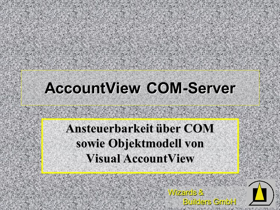 AccountView COM-Server