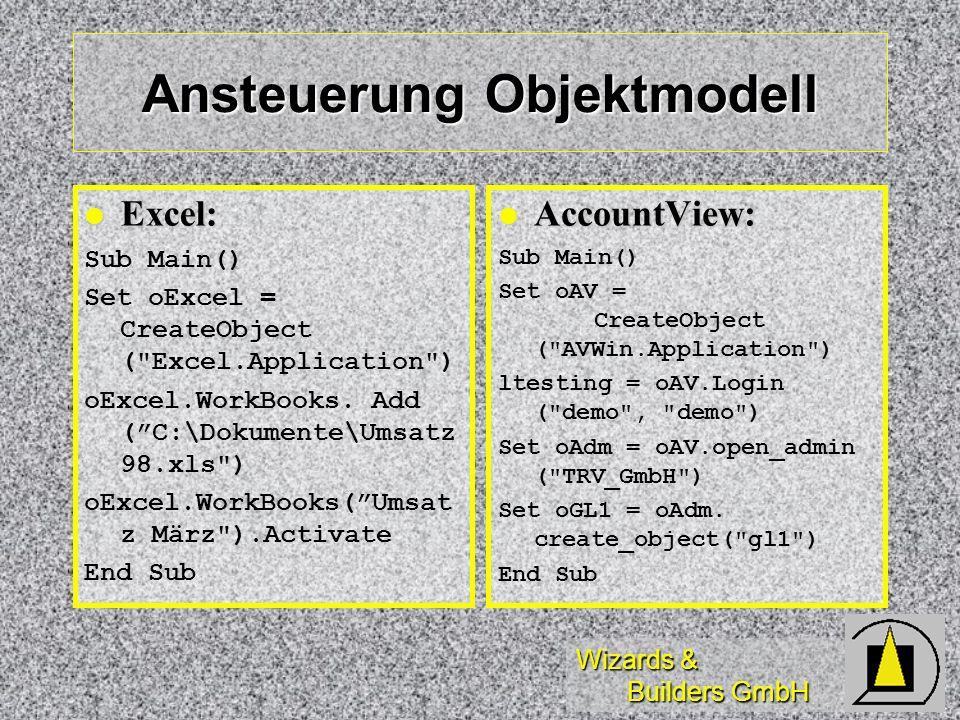 Ansteuerung Objektmodell