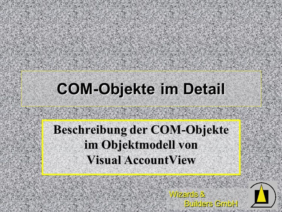 Beschreibung der COM-Objekte im Objektmodell von Visual AccountView