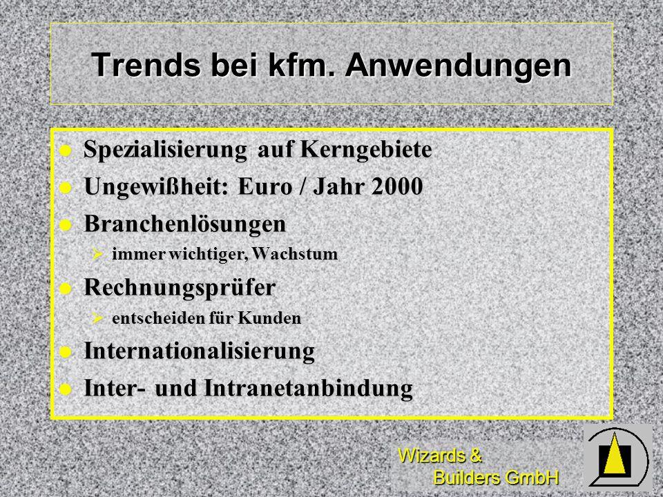 Trends bei kfm. Anwendungen