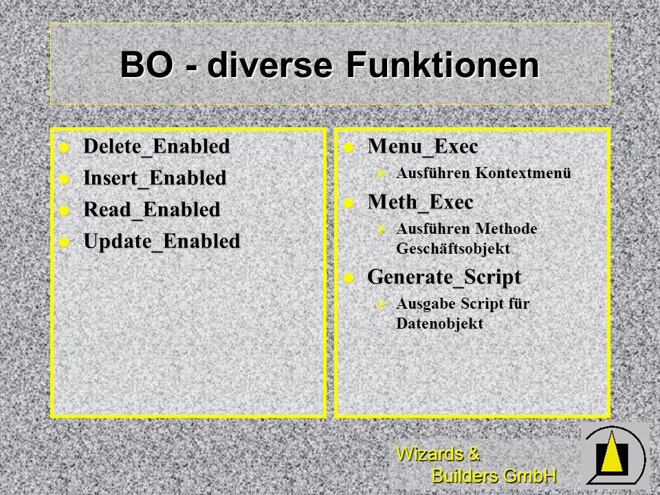BO - diverse Funktionen