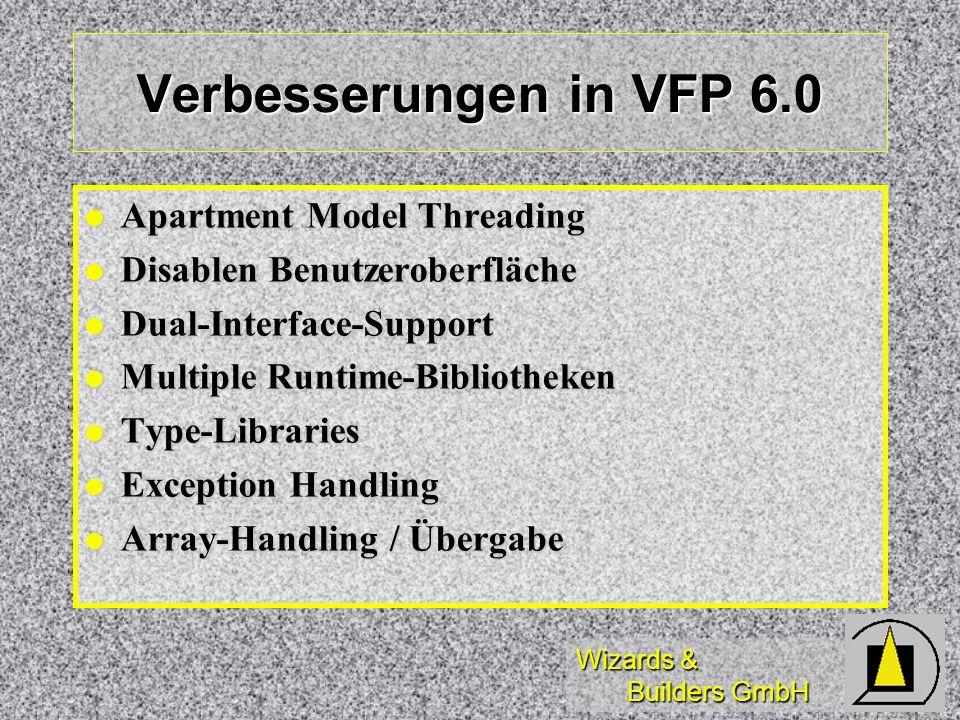 Verbesserungen in VFP 6.0 Apartment Model Threading