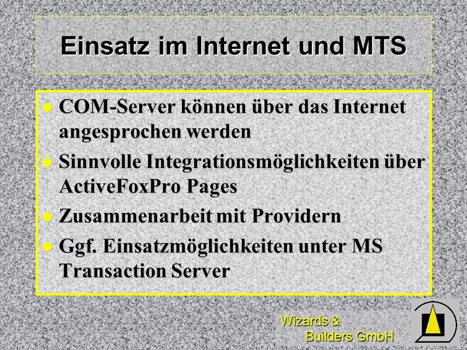 Einsatz im Internet und MTS
