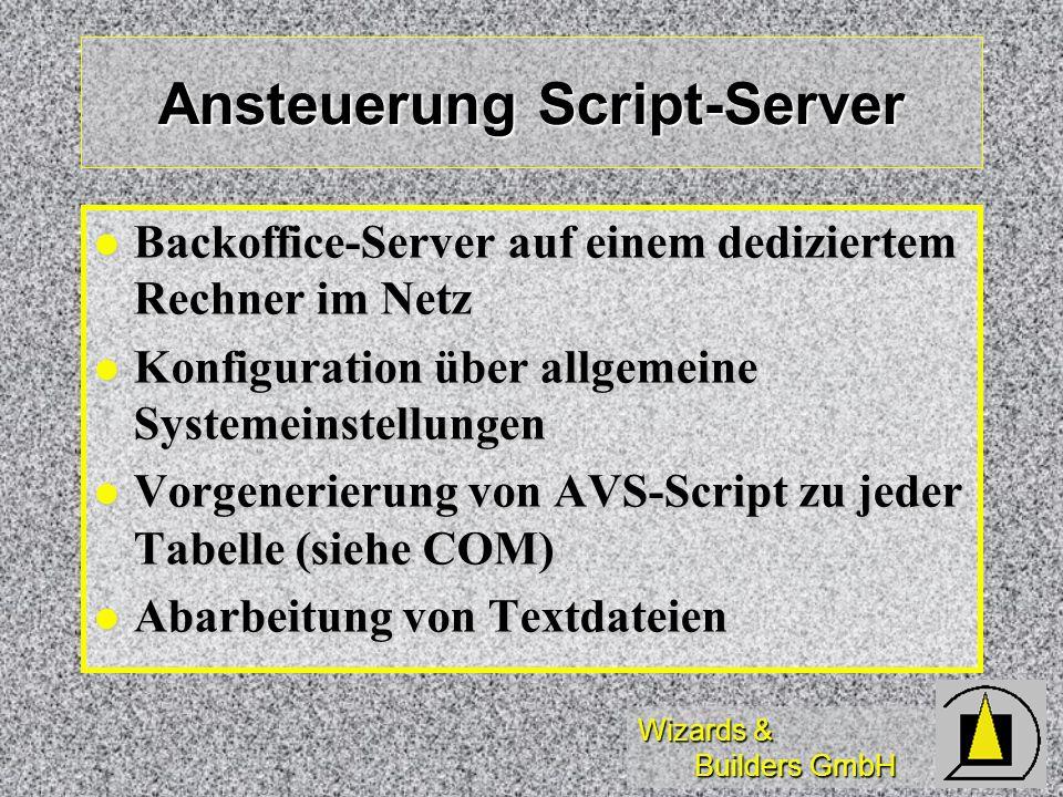 Ansteuerung Script-Server