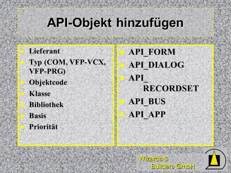 API-Objekt hinzufügen