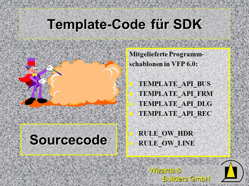 Template-Code für SDK Sourcecode