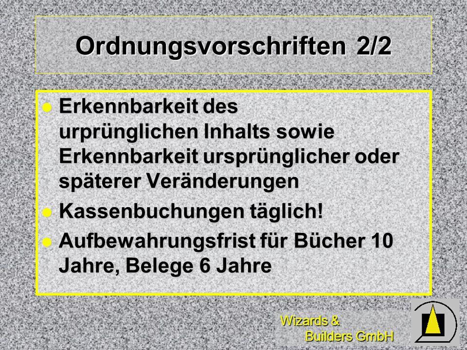 Ordnungsvorschriften 2/2