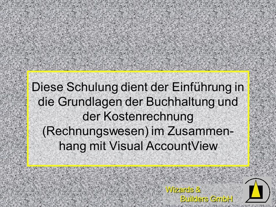 Diese Schulung dient der Einführung in die Grundlagen der Buchhaltung und der Kostenrechnung (Rechnungswesen) im Zusammen- hang mit Visual AccountView