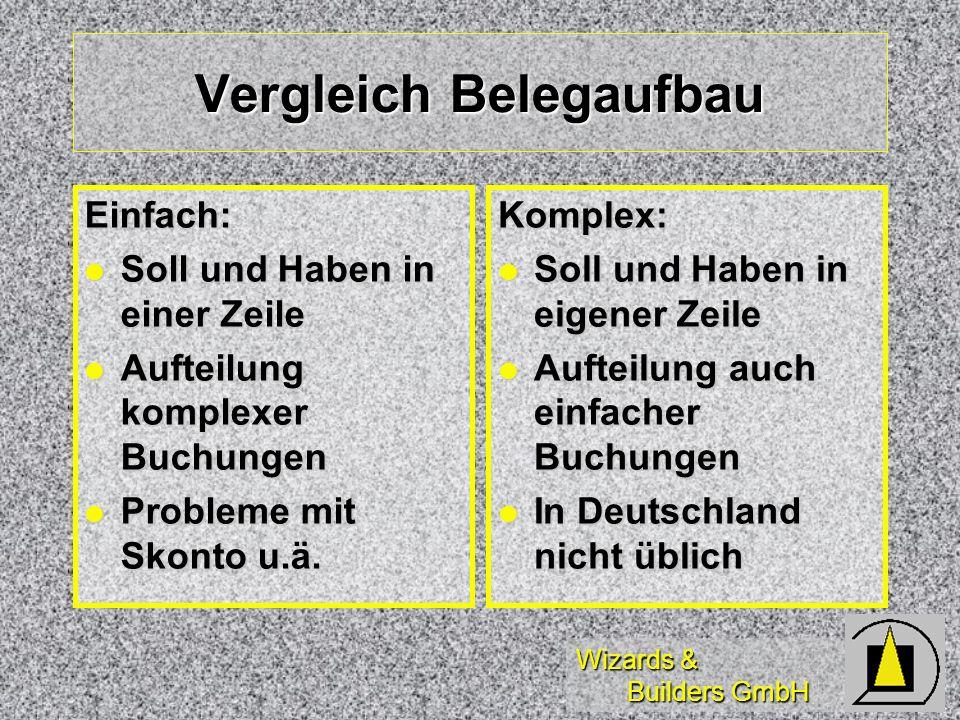 Vergleich Belegaufbau