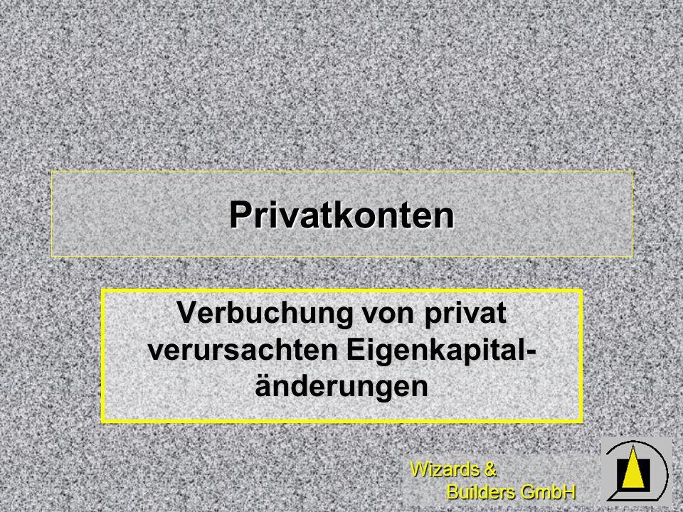 Verbuchung von privat verursachten Eigenkapital-änderungen