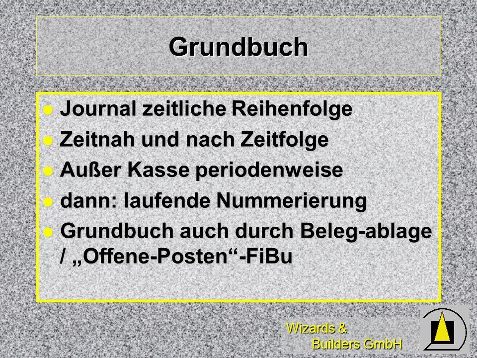 Grundbuch Journal zeitliche Reihenfolge Zeitnah und nach Zeitfolge