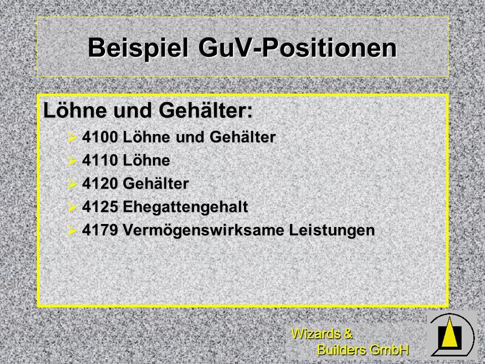 Beispiel GuV-Positionen