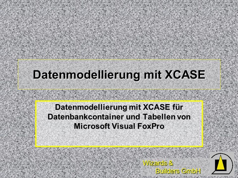 Datenmodellierung mit XCASE