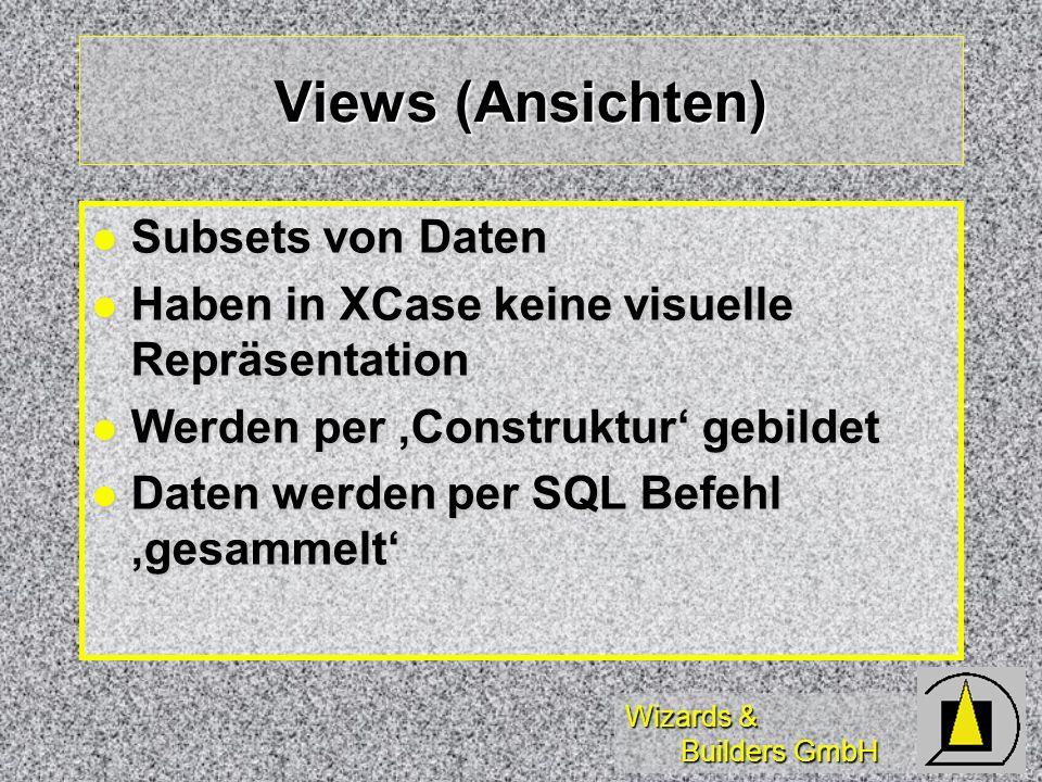 Views (Ansichten) Subsets von Daten