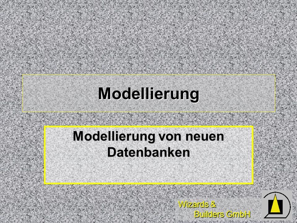 Modellierung von neuen Datenbanken