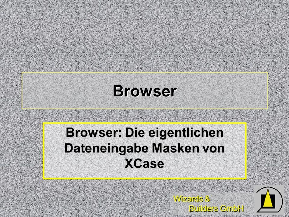 Browser: Die eigentlichen Dateneingabe Masken von XCase
