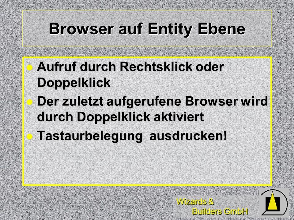 Browser auf Entity Ebene