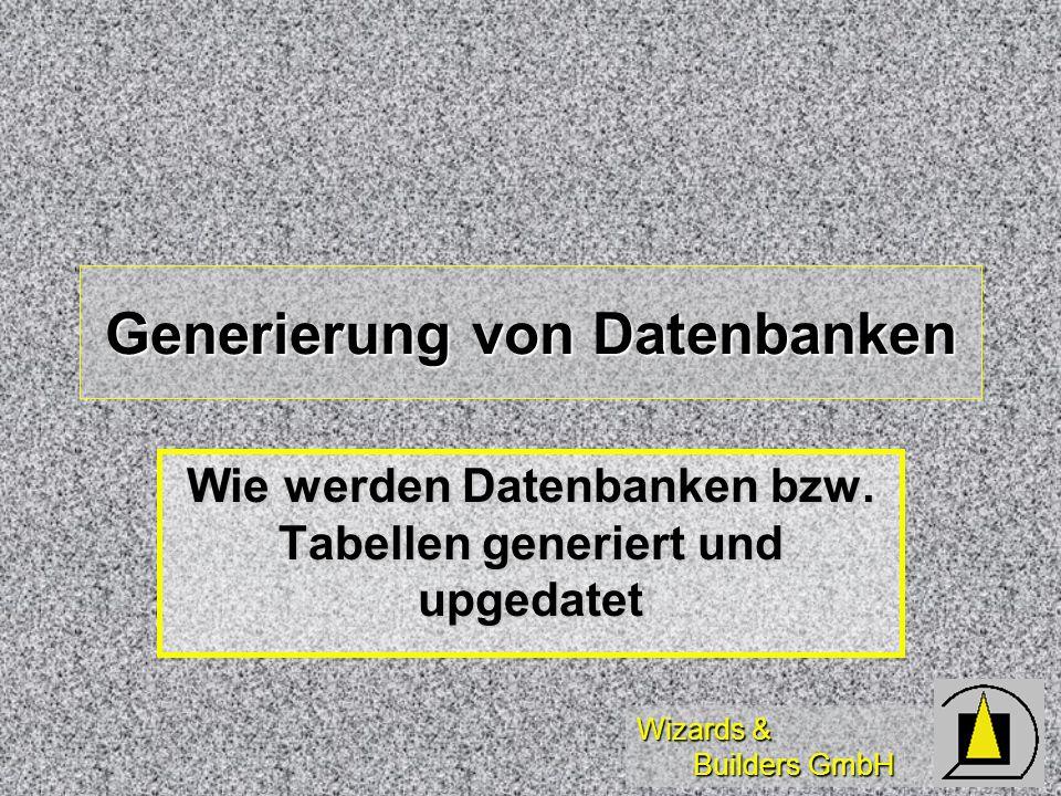 Generierung von Datenbanken