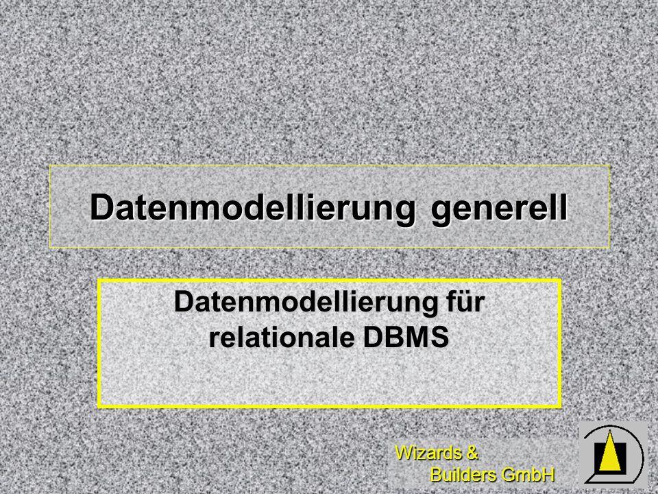Datenmodellierung generell