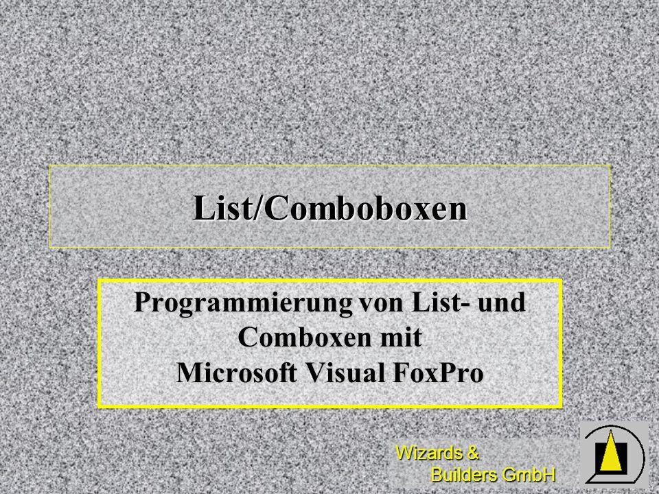 Programmierung von List- und Comboxen mit Microsoft Visual FoxPro