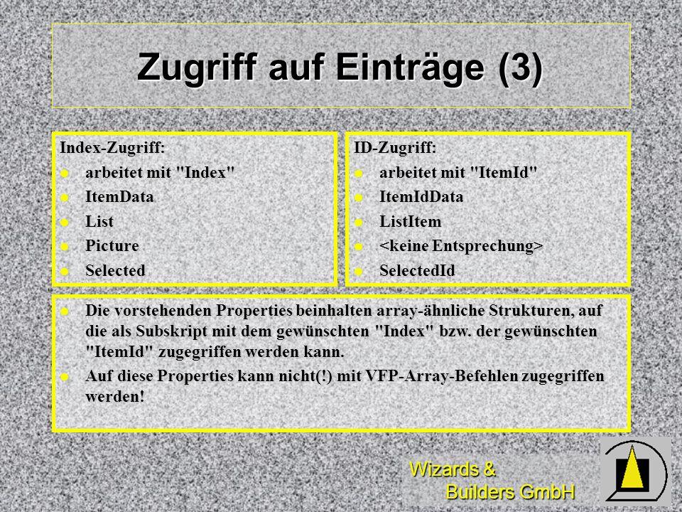 Zugriff auf Einträge (3)