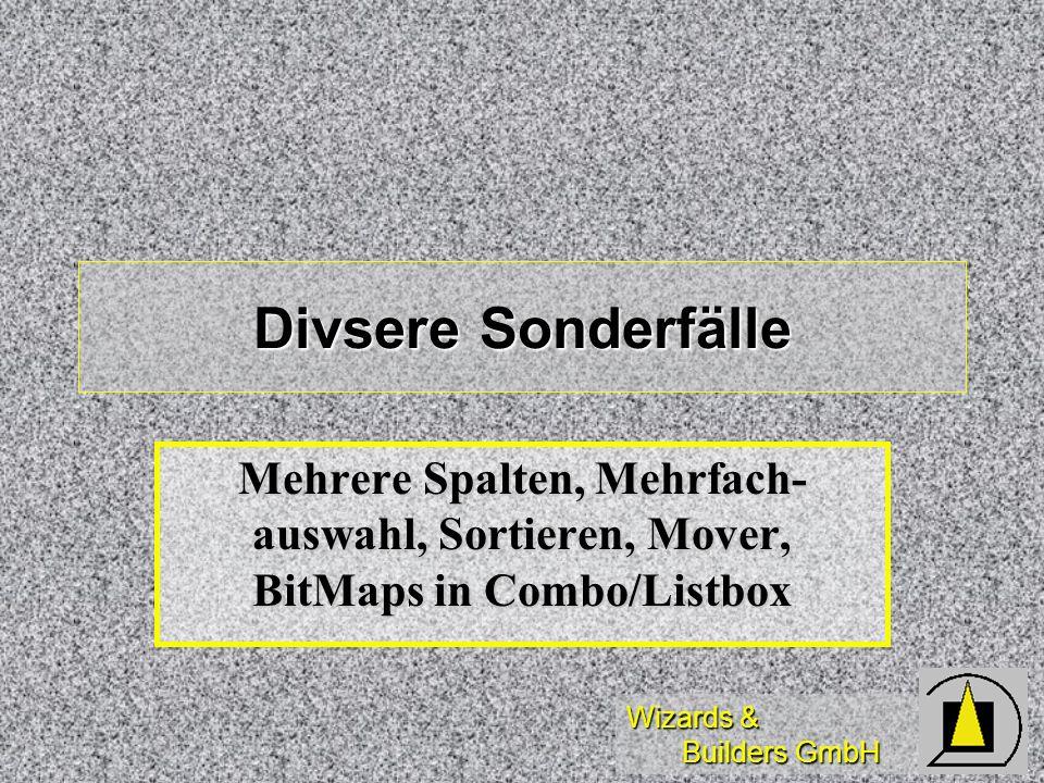 Divsere Sonderfälle Mehrere Spalten, Mehrfach-auswahl, Sortieren, Mover, BitMaps in Combo/Listbox