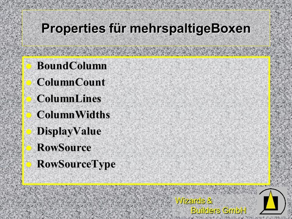 Properties für mehrspaltigeBoxen