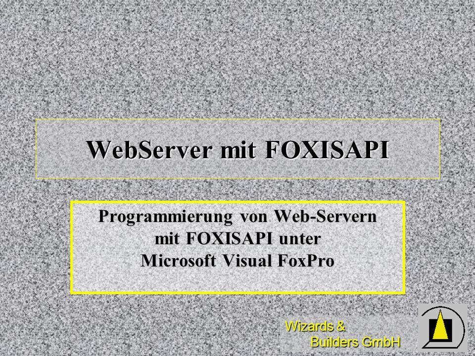WebServer mit FOXISAPI