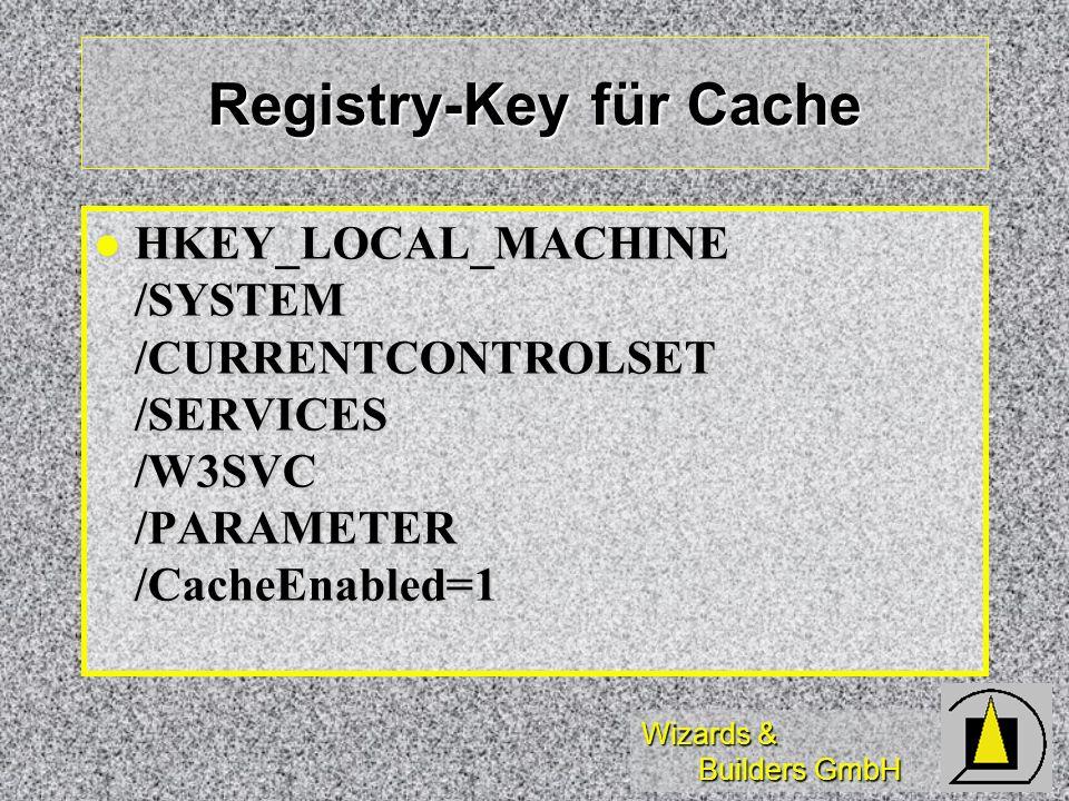 Registry-Key für Cache