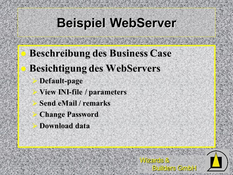 Beispiel WebServer Beschreibung des Business Case