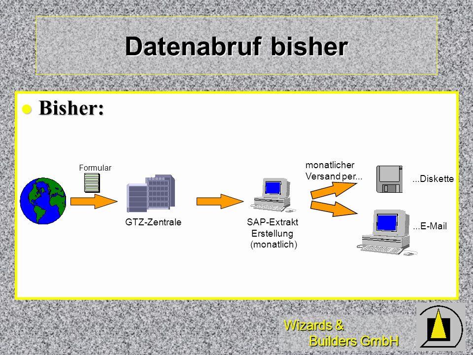 Datenabruf bisher Bisher: monatlicher Versand per... ...Diskette
