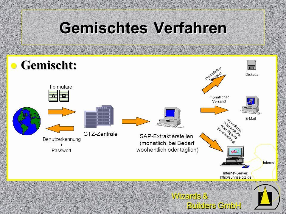 Gemischtes Verfahren Gemischt: A B GTZ-Zentrale SAP-Extrakt erstellen