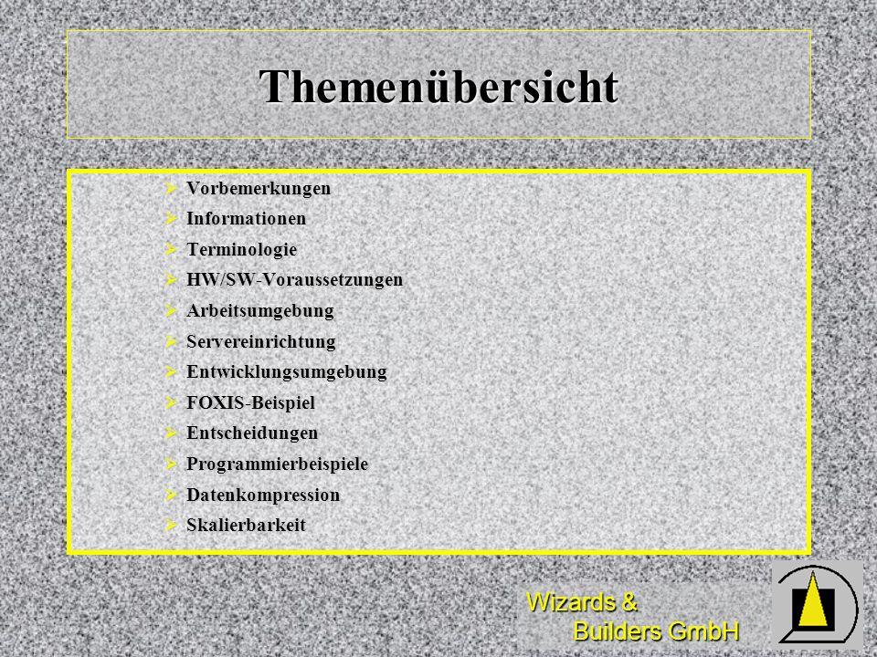 Themenübersicht Vorbemerkungen Informationen Terminologie