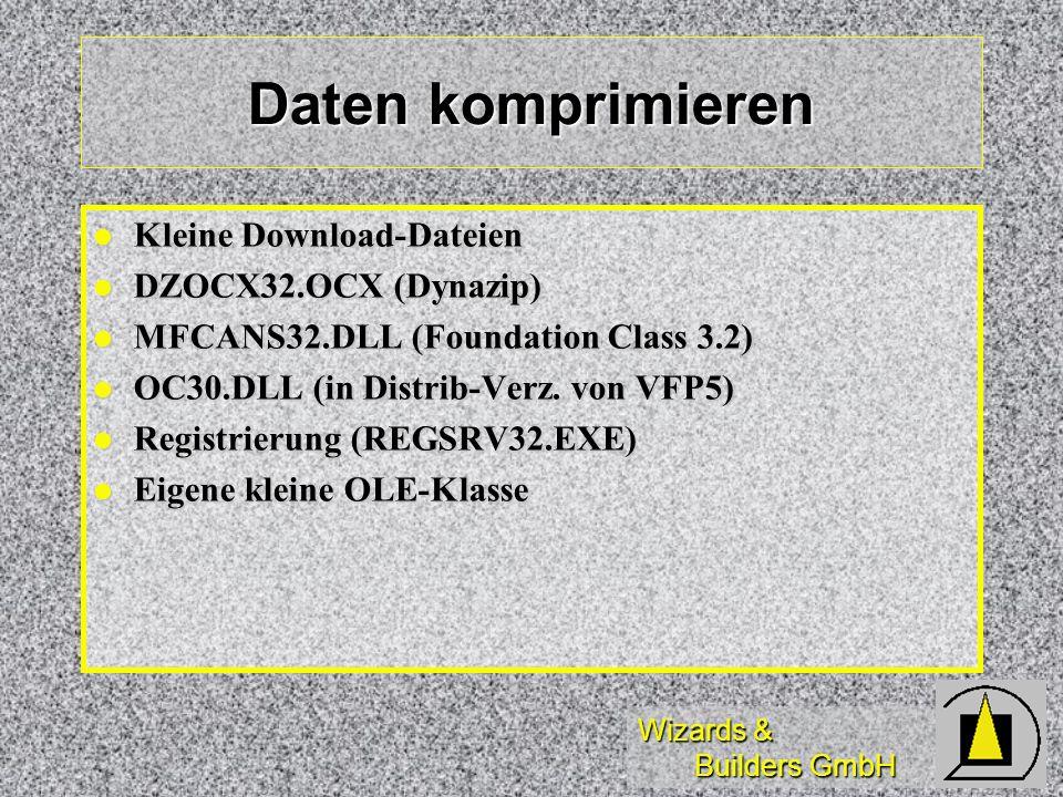 Daten komprimieren Kleine Download-Dateien DZOCX32.OCX (Dynazip)