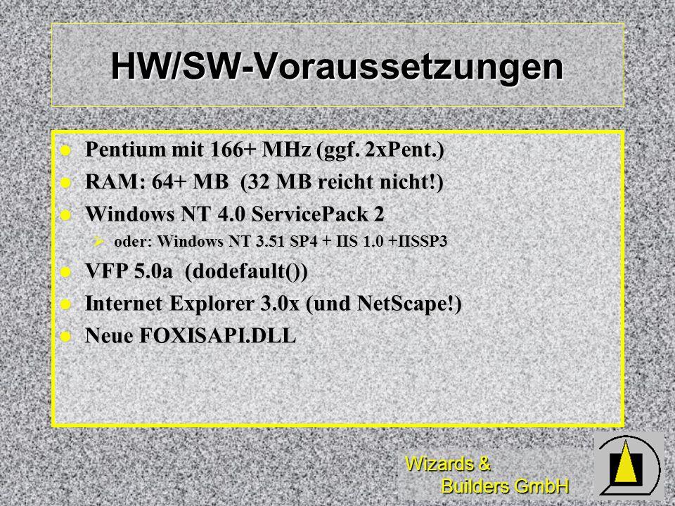 HW/SW-Voraussetzungen