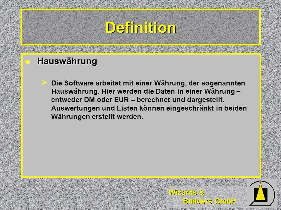 Definition Hauswährung