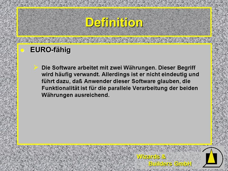 Definition EURO-fähig