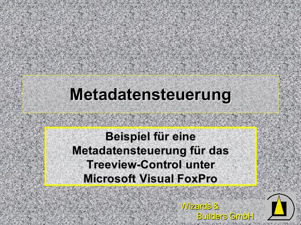Metadatensteuerung Beispiel für eine Metadatensteuerung für das Treeview-Control unter Microsoft Visual FoxPro.