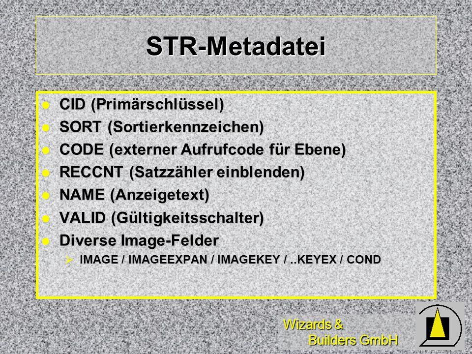 STR-Metadatei CID (Primärschlüssel) SORT (Sortierkennzeichen)