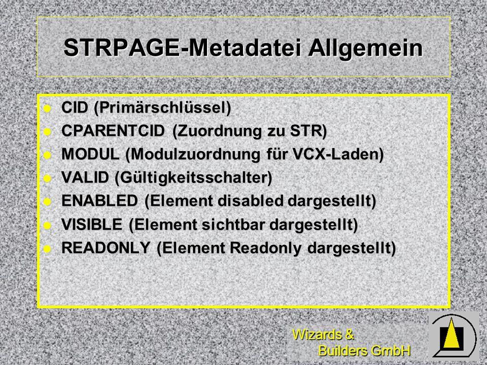 STRPAGE-Metadatei Allgemein