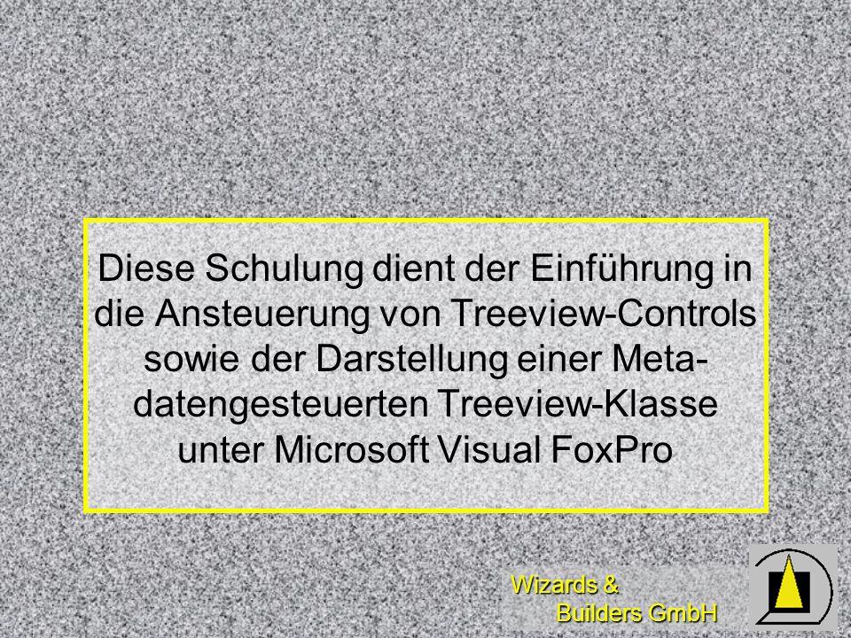 Diese Schulung dient der Einführung in die Ansteuerung von Treeview-Controls sowie der Darstellung einer Meta- datengesteuerten Treeview-Klasse unter Microsoft Visual FoxPro