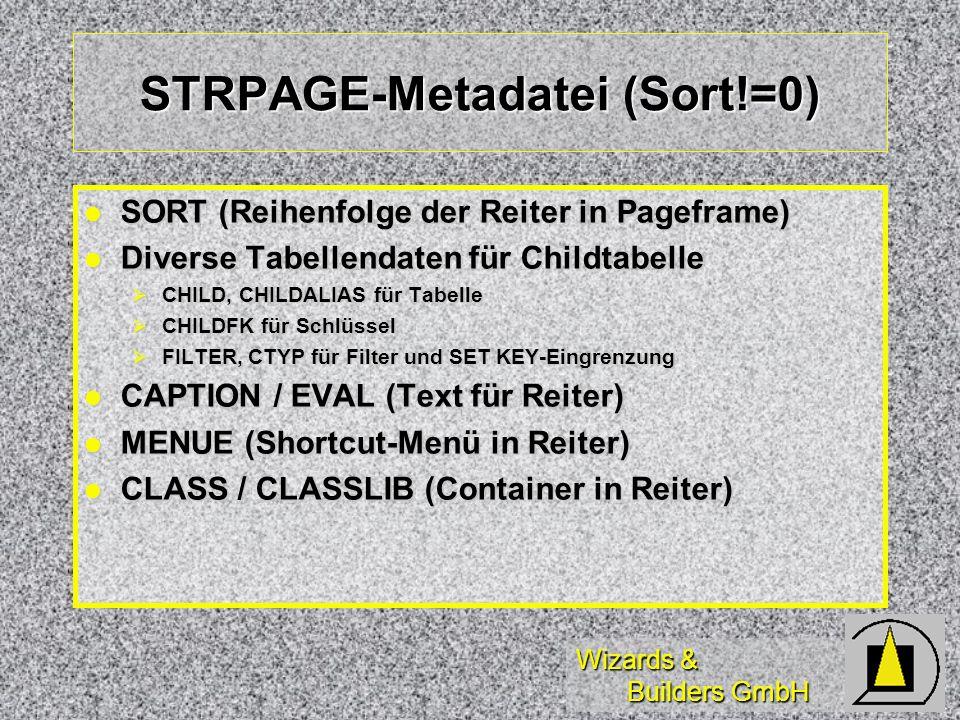 STRPAGE-Metadatei (Sort!=0)