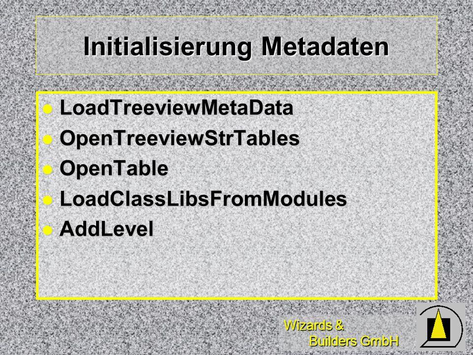 Initialisierung Metadaten