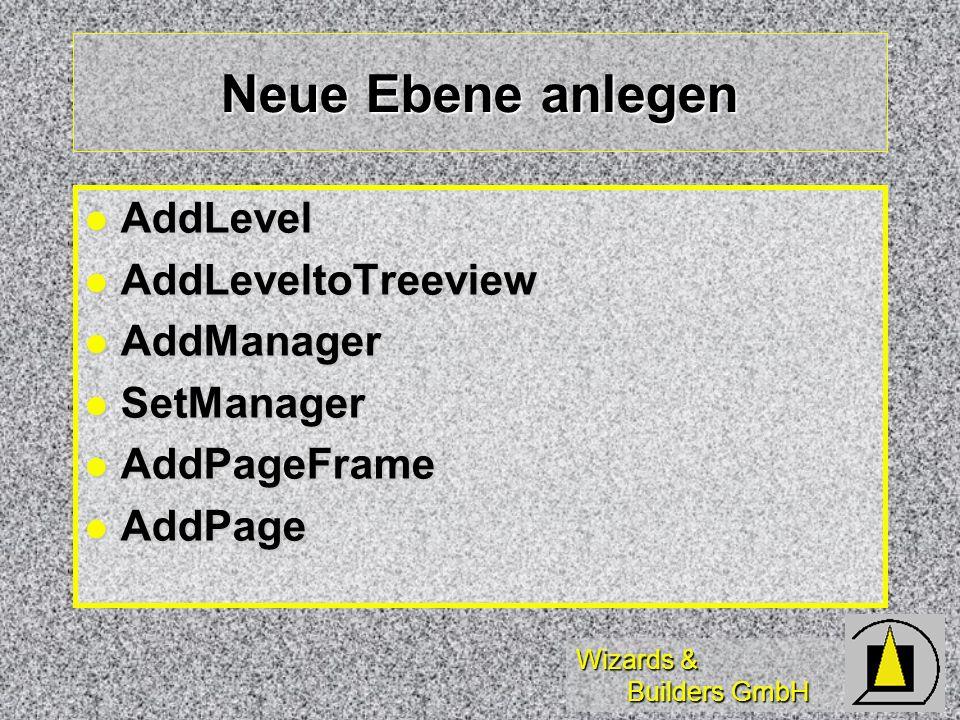 Neue Ebene anlegen AddLevel AddLeveltoTreeview AddManager SetManager