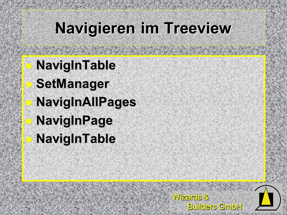Navigieren im Treeview