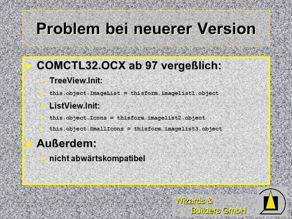 Problem bei neuerer Version