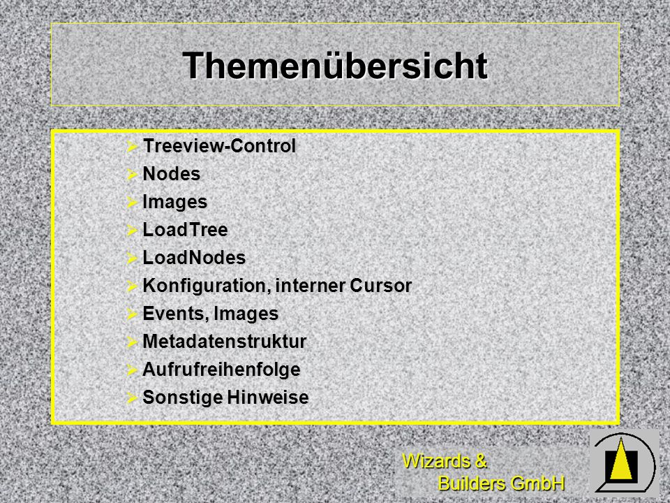 Themenübersicht Treeview-Control Nodes Images LoadTree LoadNodes