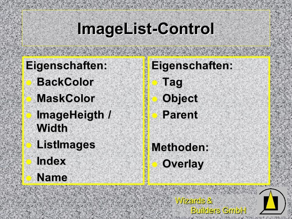 ImageList-Control Eigenschaften: BackColor MaskColor