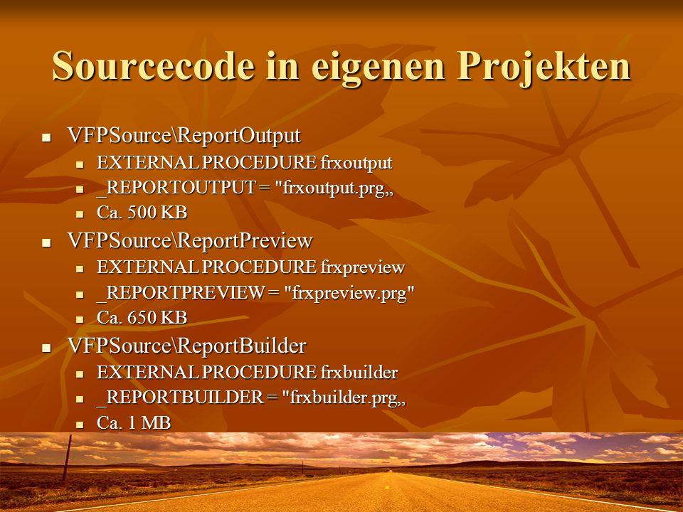 Sourcecode in eigenen Projekten