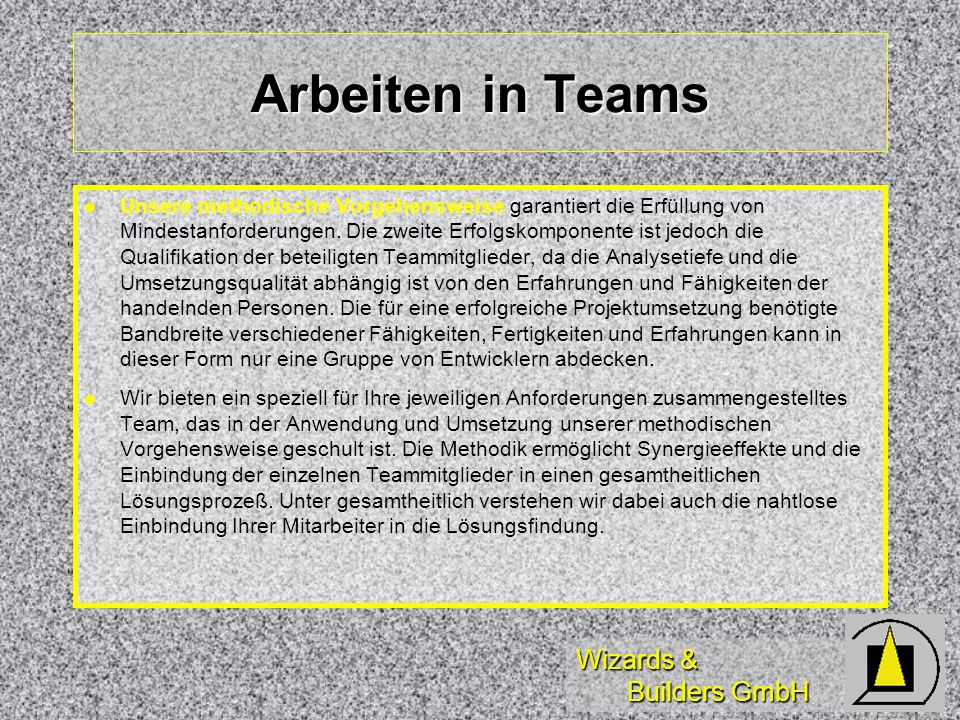 Arbeiten in Teams